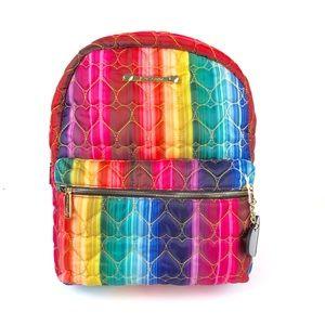 Betsey Johnson Heart Quilt Rainbow School Backpack